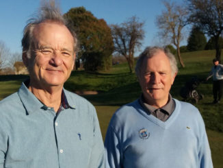 Bill Murray et Georges-Alain Calmels © Facebook Golf Club de l'Hirondelle